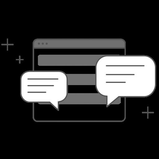 Zeichnung Gesprächsblasen Onlinemediation